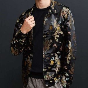 UrbanOutfitters Embroidered Chinese Dragon Jacket